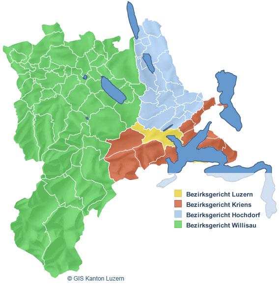 Bezirksgerichte kanton luzern for Innendekorateur kanton luzern